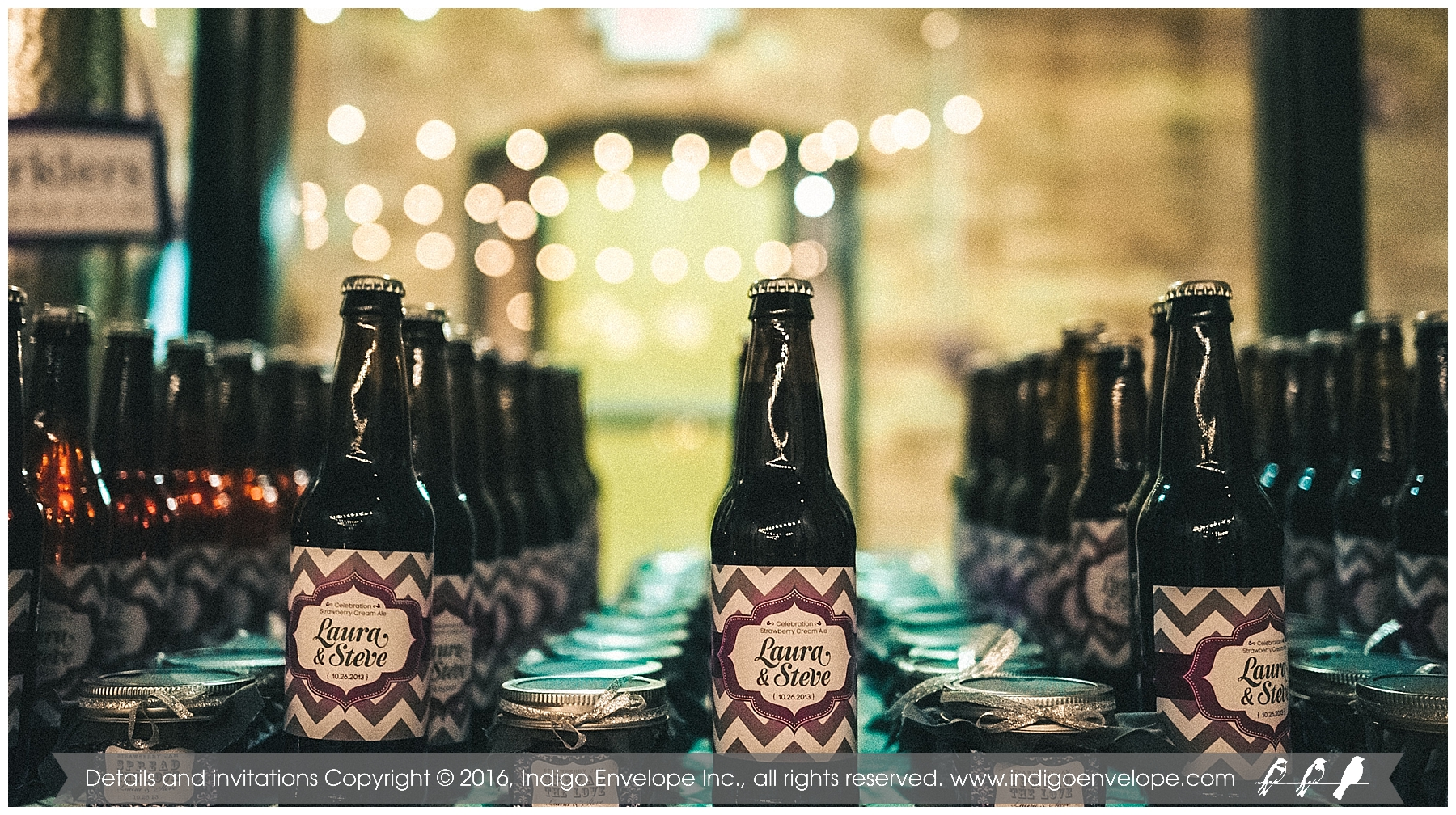 IndigoEnvelope - Geography-themed Wedding - Durham, NC - Beer Labels