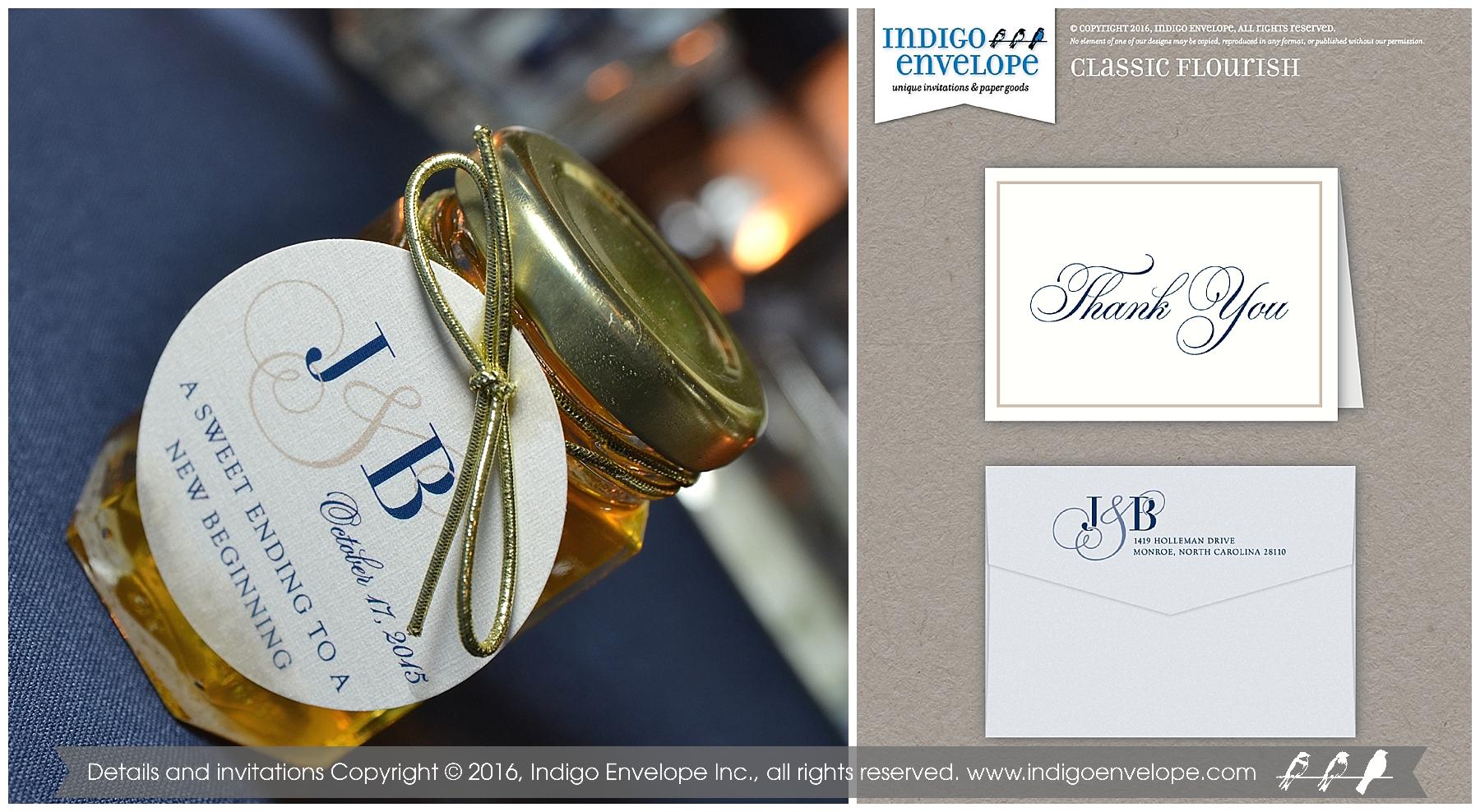 Indigo Envelope -Traditional Navy Invitations