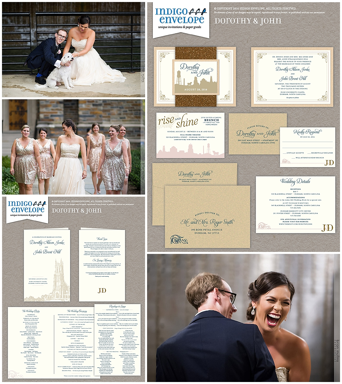 Indigo Envelope - Durham Wedding - Invitation