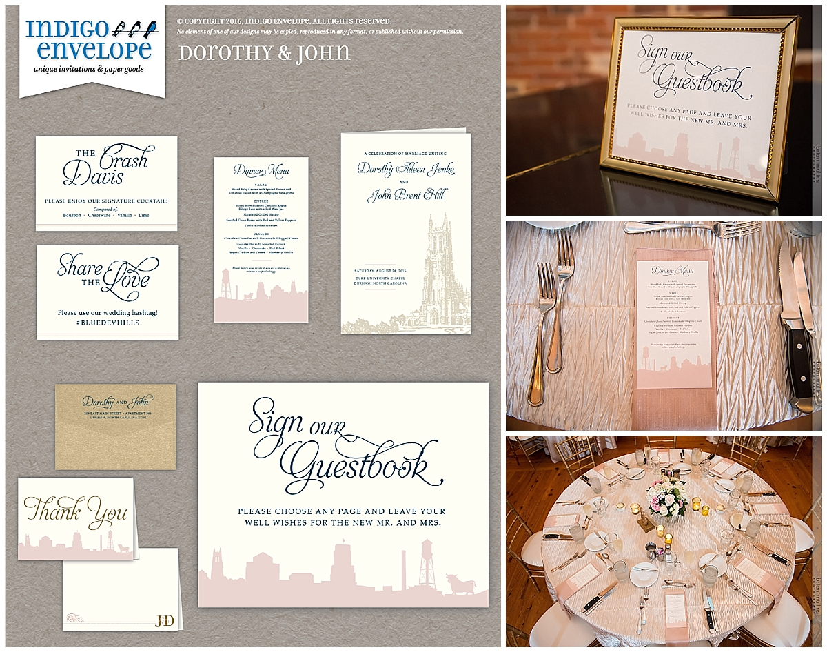 Indigo Envelope - Durham Wedding - Extras