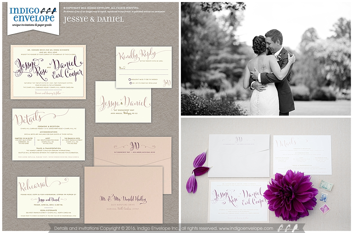 Indigo Envelope Typography Focused Invitations