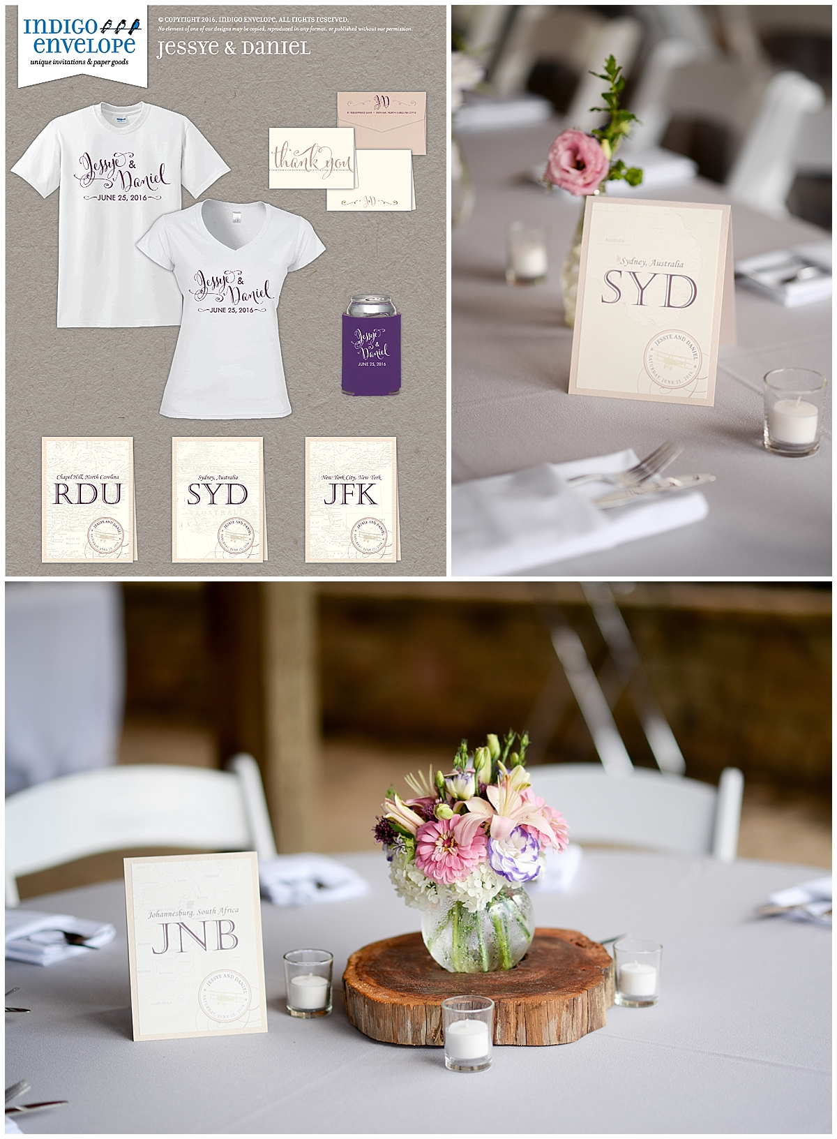 Indigo Envelope Typography Focused Details in Blush