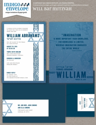 IndigoEnvelope-WillBarMitzvah-Invite