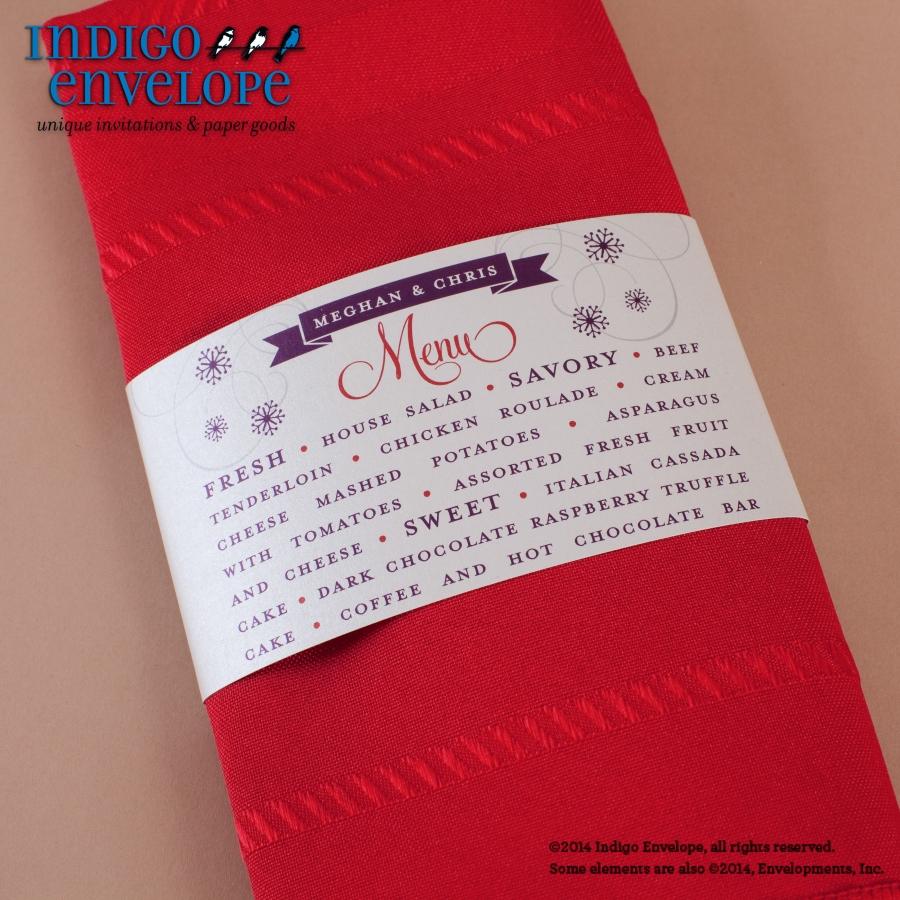 Menus - Indigo Envelope