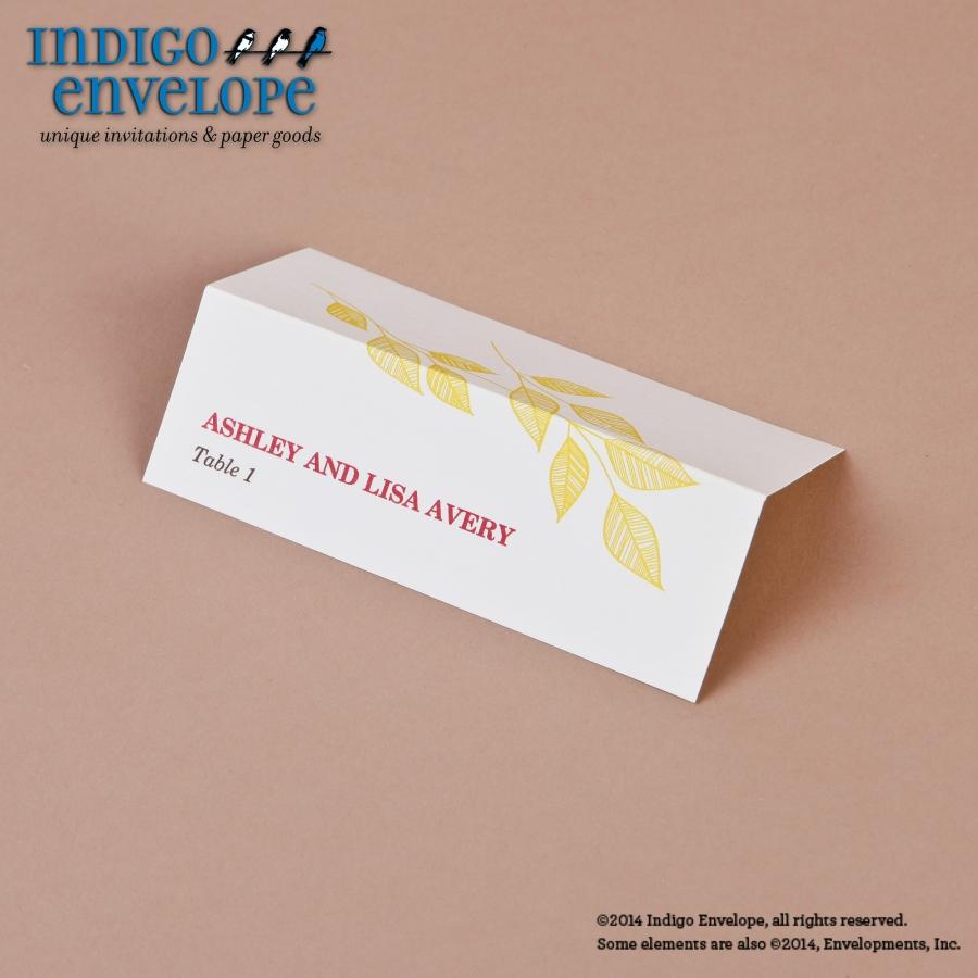 Escort Cards Archives - Indigo Envelope