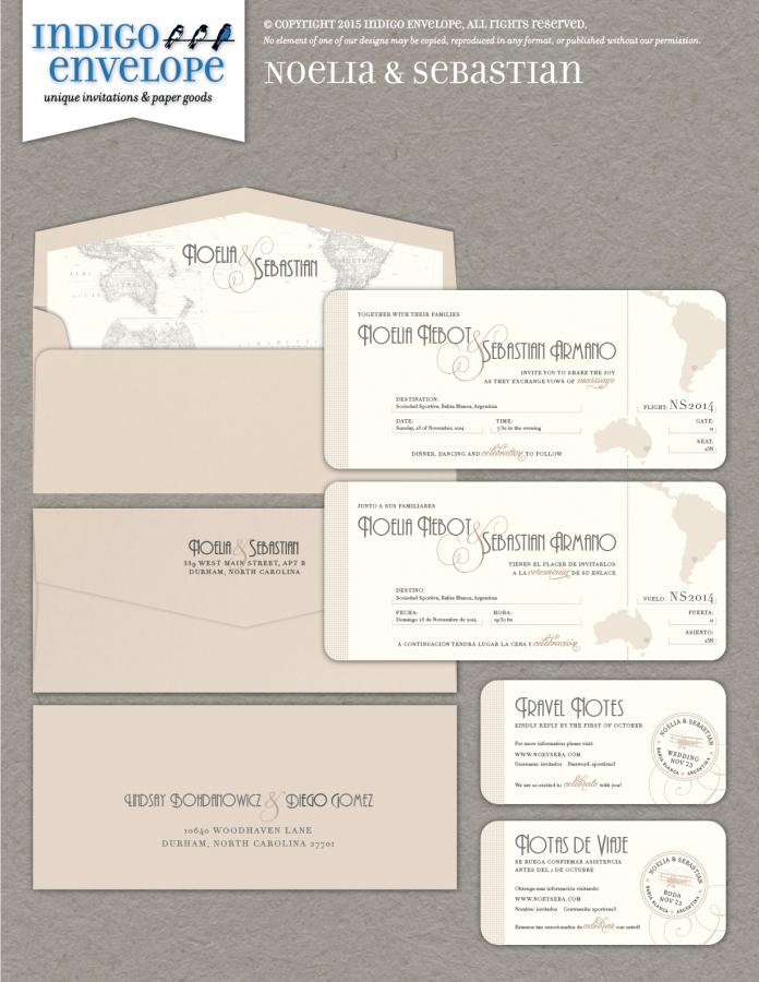 Boarding Pass Invitations Archives Indigo Envelope