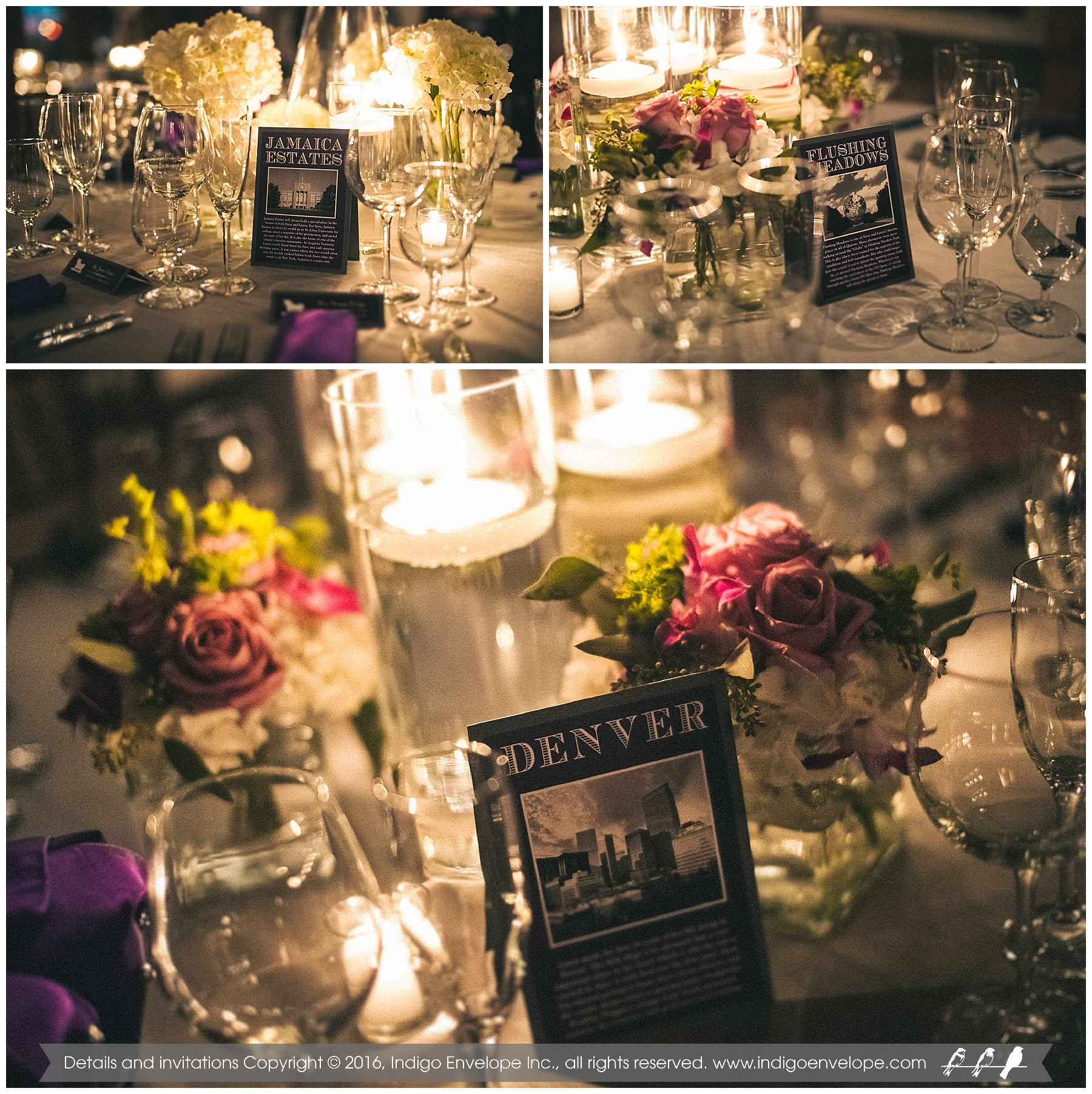 IndigoEnvelope - Geography-themed Wedding - Durham, NC - Table Numbers