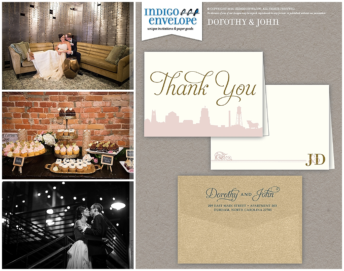 Indigo Envelope - Durham Wedding- Thank You Card