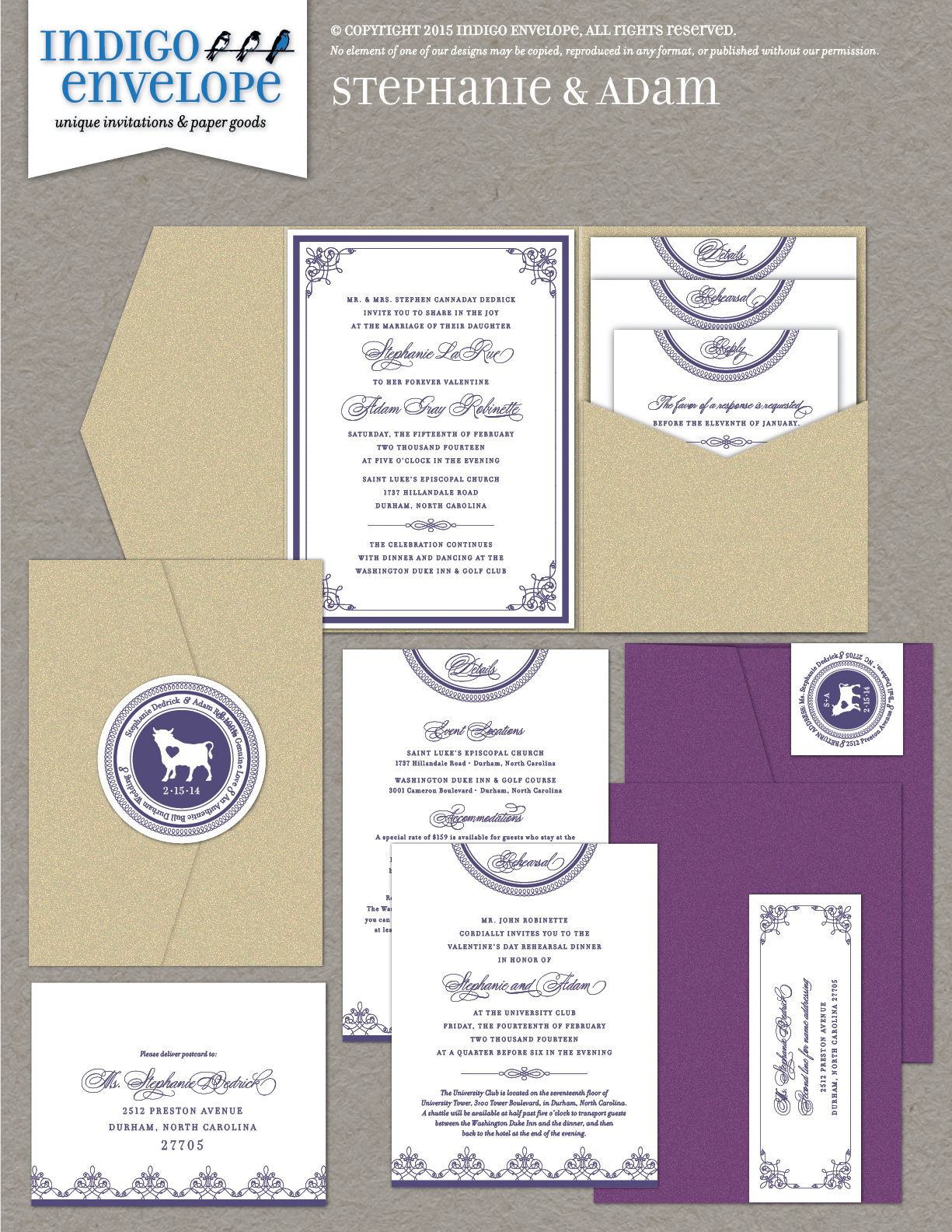 Ultra Violet and 2018 Wedding Trends - Indigo Envelope