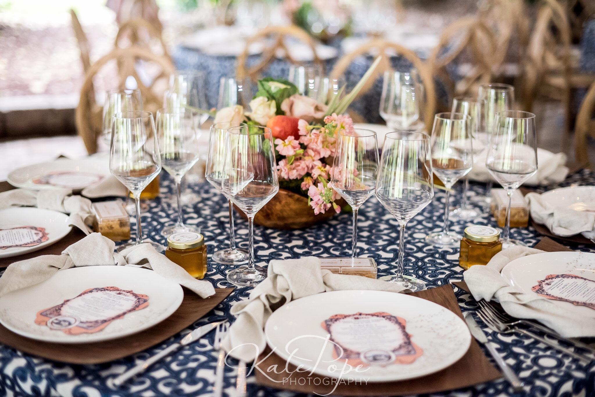 Indigo Envelope - French Provincial Evening with Weddings Magazine